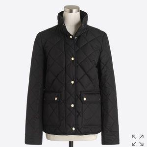 COPY - JCREW quilted black jacket Medium